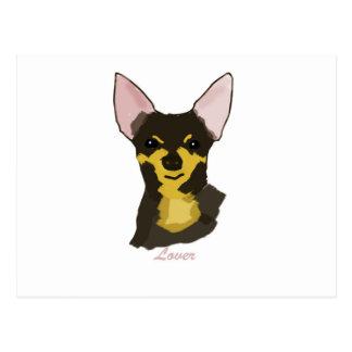 Amante de la chihuahua tarjetas postales