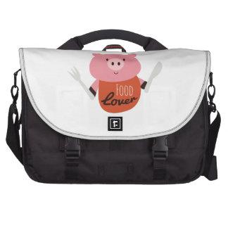 Amante de la comida bolsas de portatil