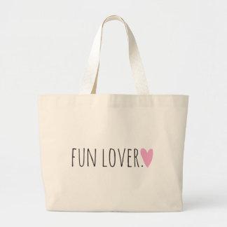 Amante de la diversión con el corazón bolsas