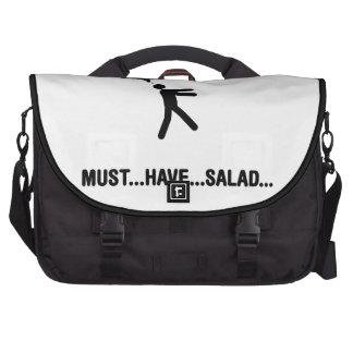 Amante de la ensalada bolsas para portatil