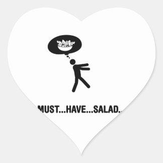 Amante de la ensalada pegatina de corazón