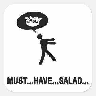 Amante de la ensalada calcomanías cuadradas personalizadas