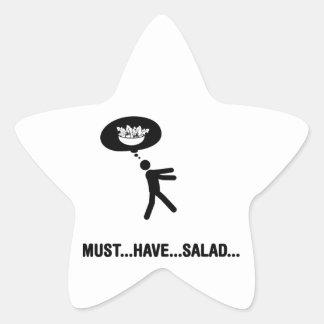 Amante de la ensalada pegatina forma de estrella