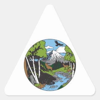 Amante de la fauna colcomanias trianguladas personalizadas
