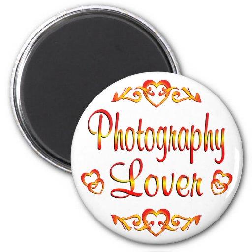 Amante de la fotografía imán redondo 5 cm