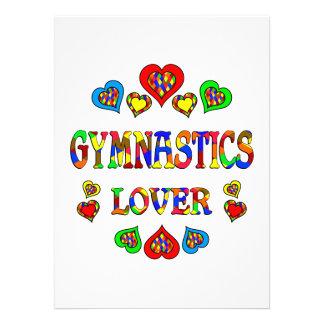Amante de la gimnasia anuncio