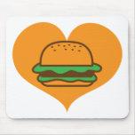 Amante de la hamburguesa alfombrillas de ratones