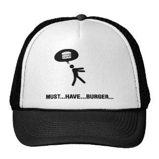 Amante de la hamburguesa gorras de camionero