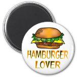 Amante de la hamburguesa imanes de nevera