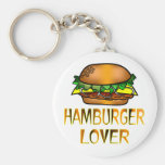 Amante de la hamburguesa llavero