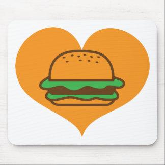 Amante de la hamburguesa mousepads