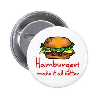 Amante de la hamburguesa pin redondo 5 cm