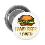 Amante de la hamburguesa pins