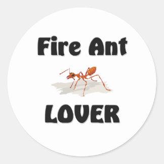 Amante de la hormiga de fuego pegatinas redondas