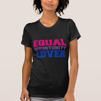 Amante de la igualdad de oportunidades camiseta