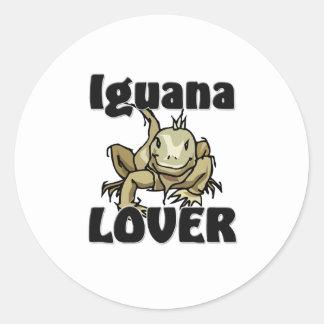 Amante de la iguana pegatina redonda