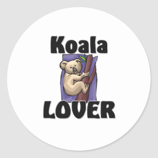 Amante de la koala pegatina redonda