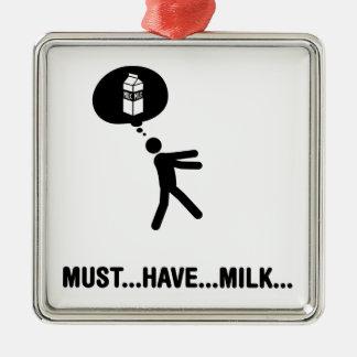 Amante de la leche adorno de navidad