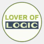 Amante de la lógica etiqueta redonda