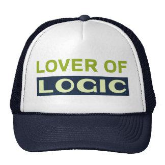 Amante de la lógica gorros bordados