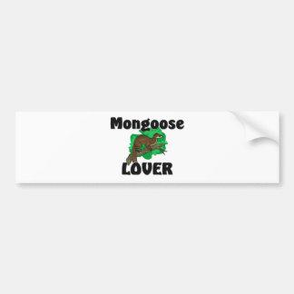 Amante de la mangosta pegatina de parachoque