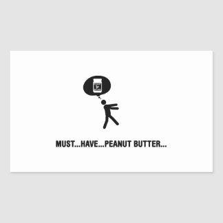 Amante de la mantequilla de cacahuete rectangular pegatina