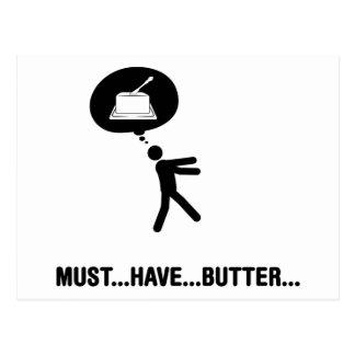 Amante de la mantequilla tarjetas postales