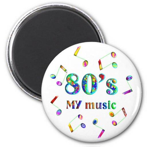 amante de la música 80s iman de frigorífico
