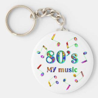 amante de la música 80s llavero redondo tipo pin