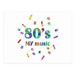 amante de la música 80s postal