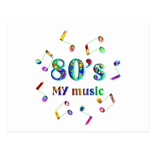 amante de la música 80s tarjeta postal
