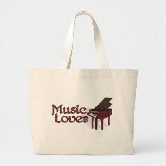 Amante de la música bolsa