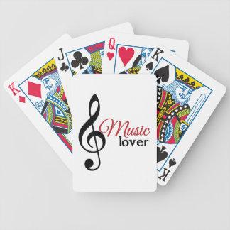 Amante de la música cartas de juego