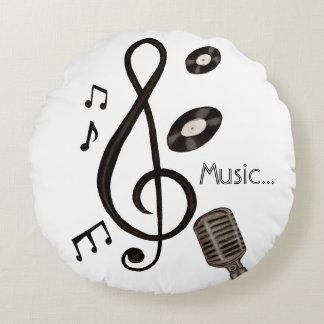 Amante de la música cojín redondo