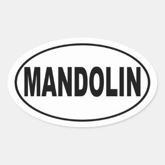 Amante de la música de la mandolina calcomanías ovales personalizadas