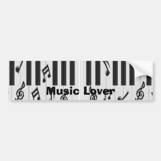 Amante de la música del teclado de piano pegatina para auto