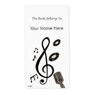 Amante de la música etiqueta de envío