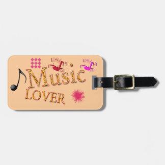 Amante de la música - etiqueta del equipaje etiquetas de equipaje