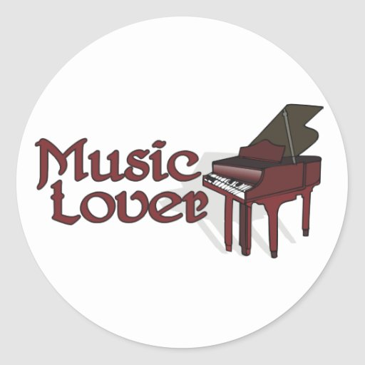 Amante de la música etiquetas redondas