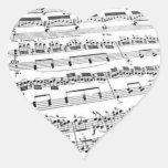 Amante de la música pegatina de corazón
