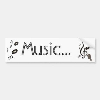 Amante de la música pegatina para auto