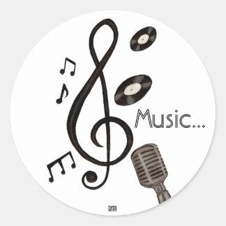 Amante de la música pegatina redonda