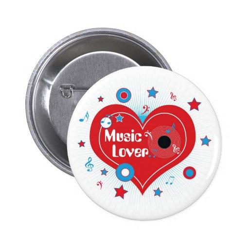 Amante de la música - Pin