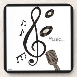 Amante de la música posavasos
