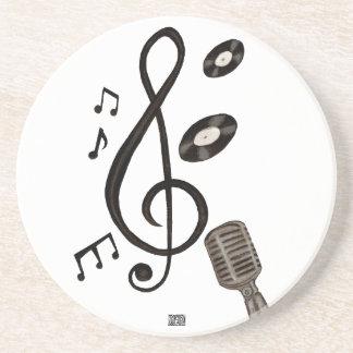 Amante de la música posavasos de arenisca