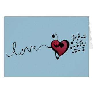 Amante de la música tarjeta de felicitación