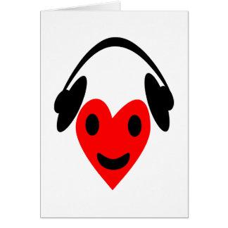 """""""Amante de la música """" Tarjeta De Felicitación"""
