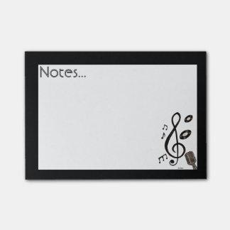 Amante de la música nota post-it