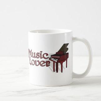 Amante de la música taza de café