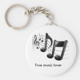 amante de la música verdadero llavero